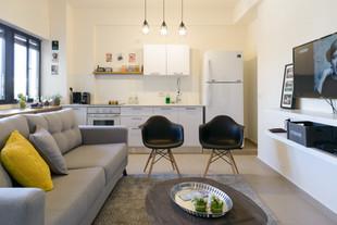עיצוב דירת אירוח במרכז תל אביב airbnb