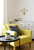 פינה בחדר שינה מעוצב בסגנון וינטג׳ בתל אביב  airbnb