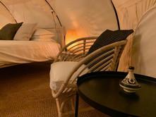 13עיצוב מתחם אוהלי אירוח בסגנון בוהו שיק