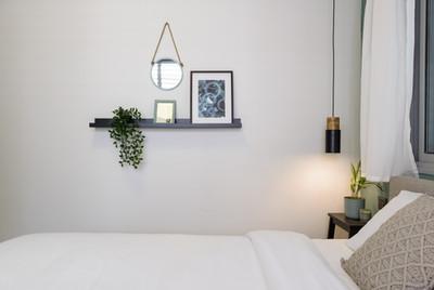 פרט בחדר שינה בדירת אירוח לטווח קצר בתל אביב