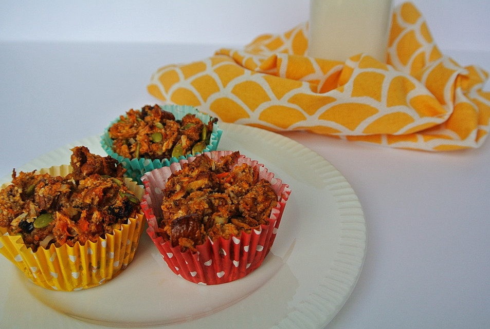 Sweet Potato, Carrot & Fig Muffins