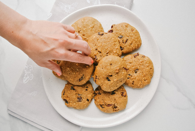 Cranberry & Date Breakfast Cookies