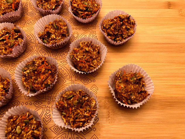 Sweet Potato, Carrot & Fig Muffins