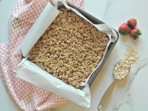 Healthy & Delicious  Raspberry Oat Bars