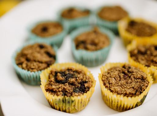 Blueberry Lemon Flax Muffins
