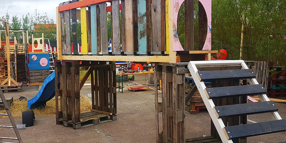 Blandat Material och Kartong Spela -Upcycled Playspace at Pixla Piren (2)