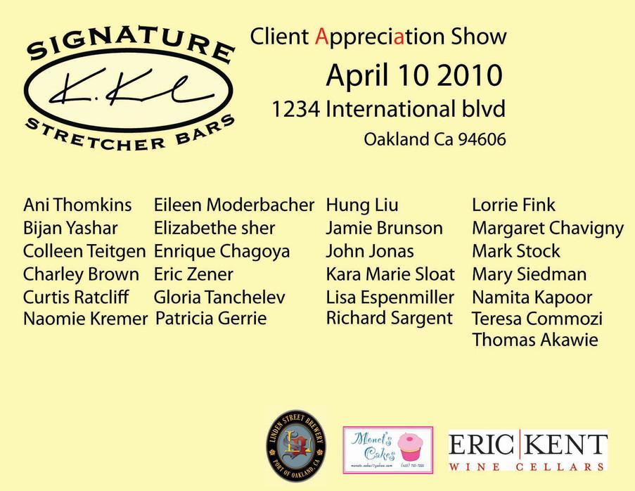 client appreciation show back post card.