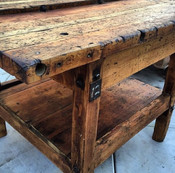 Old wood tables