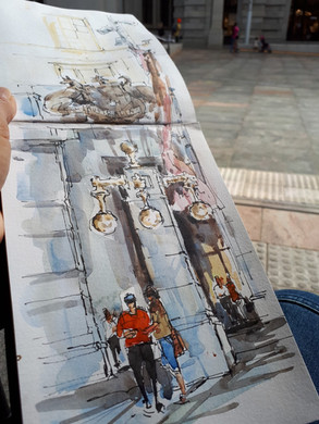 Travel Sketchbook - Watercolour and Ink