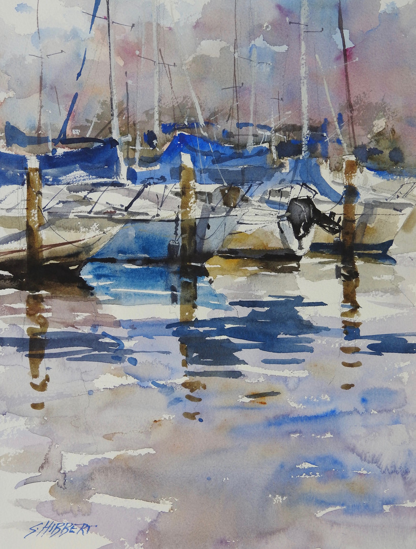 Watercolour - Swan river - Sue Hibbert.j