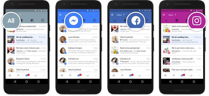 Messaging in Facebook and Instagram