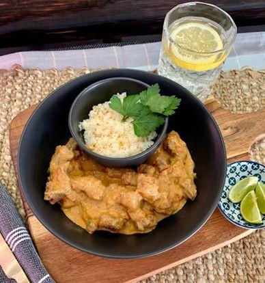Red Thai Beef Curry w/ Cauliflower Rice