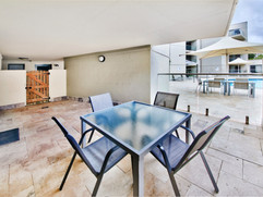 Private courtyard on pool deck