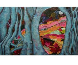 T4 Semi-Abstract Acrylic Painting