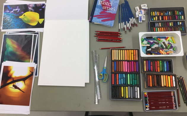 School Hol- Drawing with Pastels