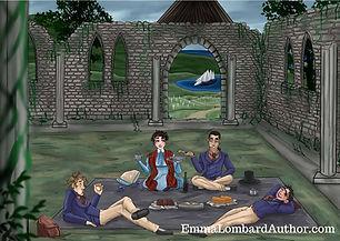 Postcard 7 Church picnic.jpg
