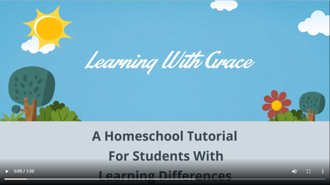 learning with grace video start screen c