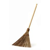 Multi-Surface Sturdy Outdoor Coconut Bristle Upright Garden Broom
