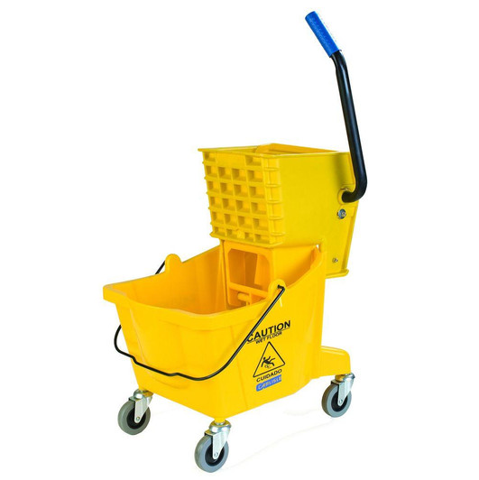 Yellow Mop Bucket/Wringer Combo