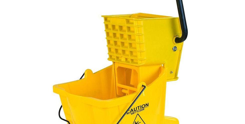 Yellow Mop Bucket/Wringer Combo