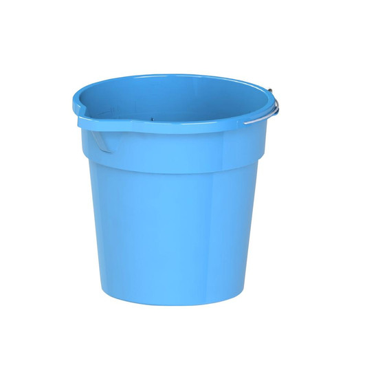 Round Plastic Bucket with Steel HandleRound Plastic Bucket with Steel Handle