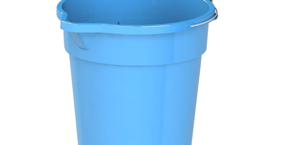 Round Plastic Bucket with Steel Handle