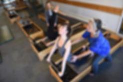 Pilates reformer equipment and classical pilates