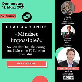 »Mindset Impossible – Szenen der Digitalisierung aus der Sicht eines IT Solution Specialists«