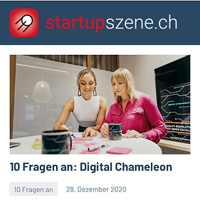 New featured interview at startupszene.ch 🚀: 10 questions to Digital Chameleon!