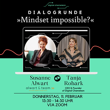 »𝗠𝗶𝗻𝗱𝘀𝗲𝘁 𝗶𝗺𝗽𝗼𝘀𝘀𝗶𝗯𝗹𝗲?« - 𝗗𝗶𝗮𝗹𝗼𝗴𝗿𝘂𝗻𝗱𝗲 mit Tanja Rohark und Susanne Alwart