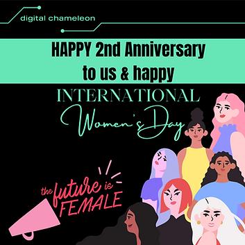 Happy 2nd Birthday to us & Happy International Women's Day!