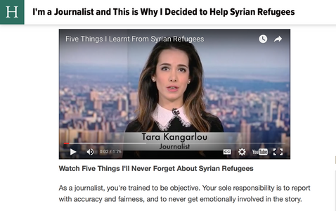 I'm a Journalist and This is Why I Decided to Help Syrian Refugees