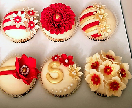Box of 6 Decorated Cupcakes - Local Only