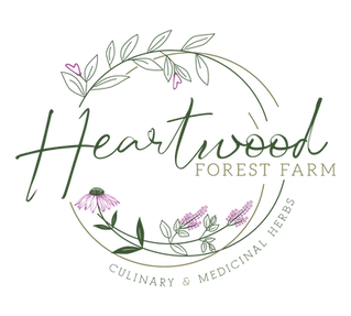 Heartwood Forest Farm logo - Organic Culiary & Medicinal Herbs