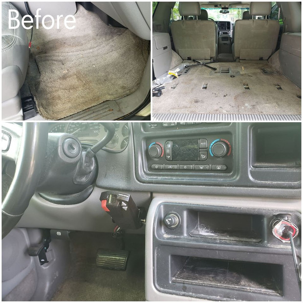 Before Interior Cleaning