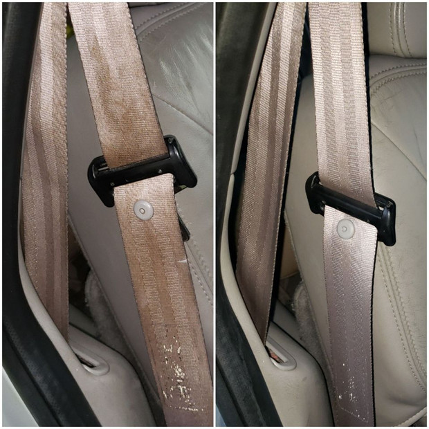 Seat Belt Stain Removal