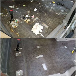 Extensive Interior Cleaning and Stain Removal