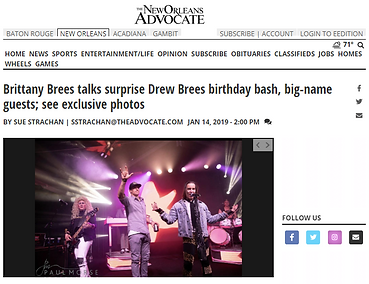 The Advocate-Drew Brees 40th Birthday Ba