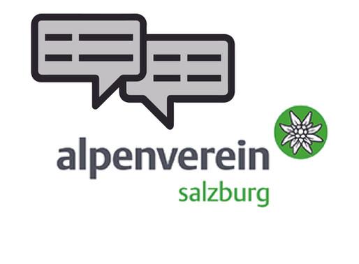 Erstes Treffen mit dem Alpenverein Salzburg - Volle Unterstützung und Zusammenarbeit