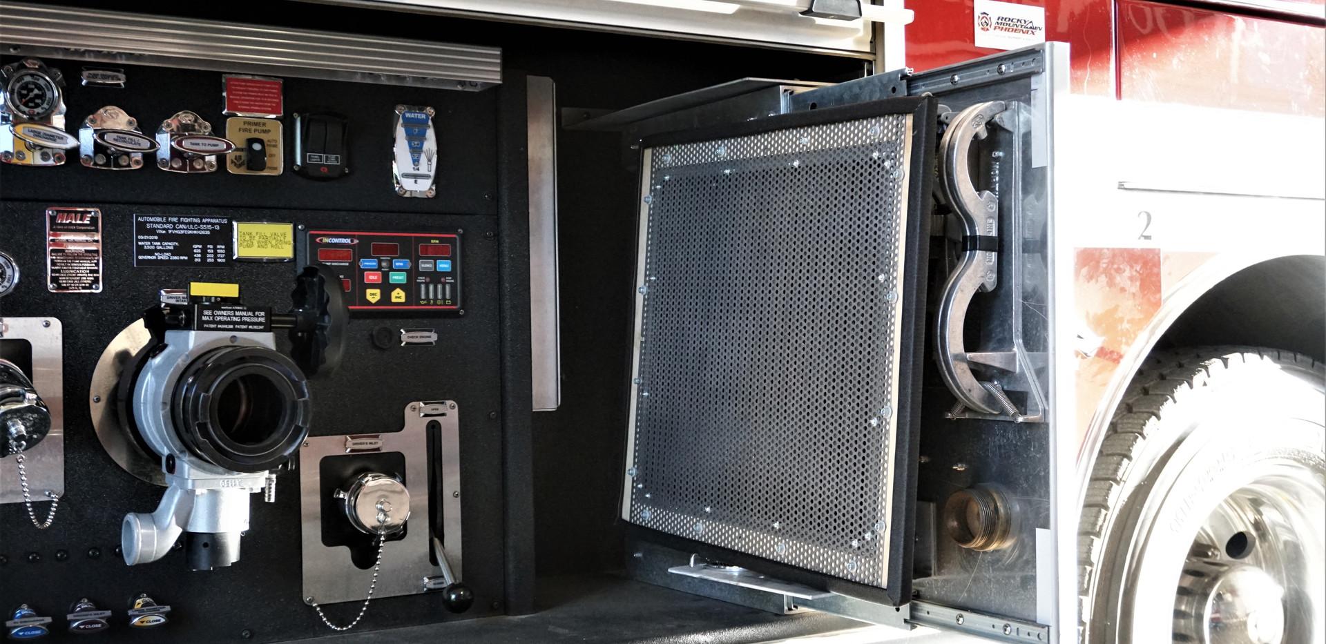ZeroSound panel in a firetruck