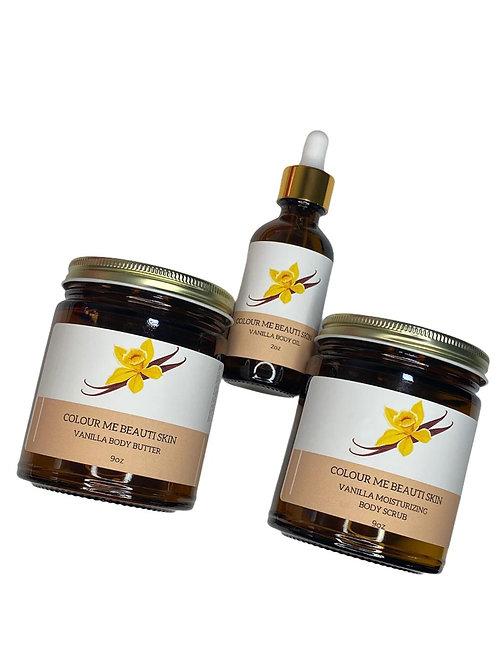 """""""Vanilla Skincare Bundle""""   (body butter, body scrub, & body oil)"""