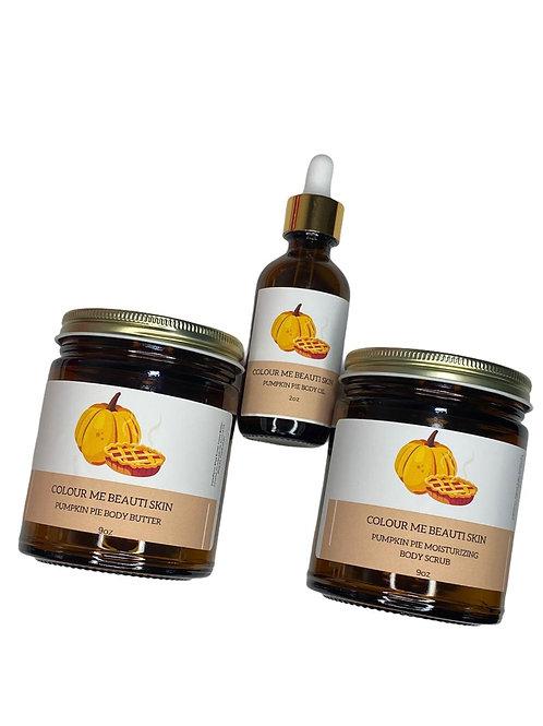 """Pumpkin Pie Skincare Bundle"" (body butter, body scrub, & body oil)"