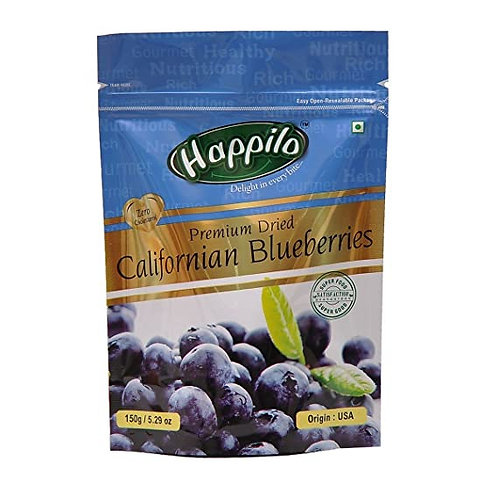 HAPPILO CALIFORNIAN BLUEBERRIES 150GM
