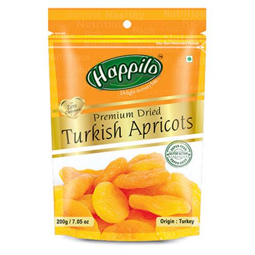 HAPPILO TURKISH APRICOTS 200GM