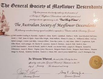AUSMD Charter Certificate