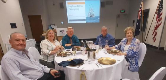 Bill & Chris Eliiott with Australian-American Association friends on Thanksgiving Day