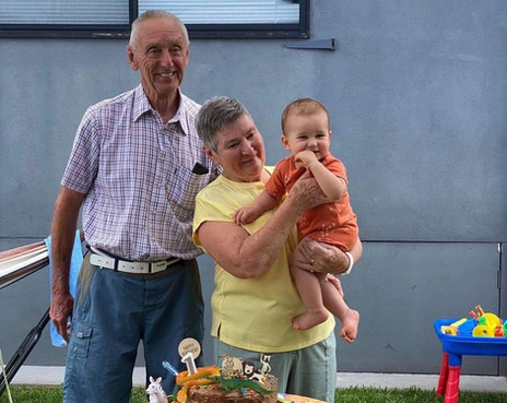 Robert and Bev Granger with their great-