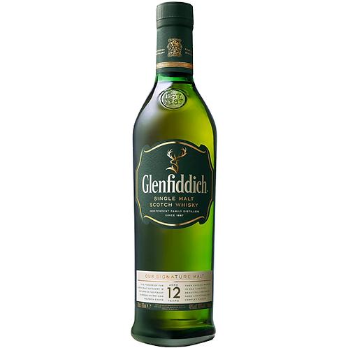 Glenfiddich 12 YO Single Malt Scotch 700mL 40%