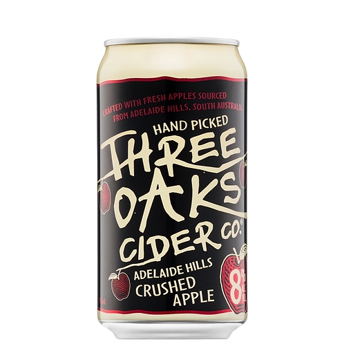 Three Oaks Cider Co. Crushed Apple Cider Cans 10x375mL 8%