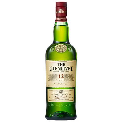 The Glenlivet 12 Year Old Single Malt Scotch 700mL 40%
